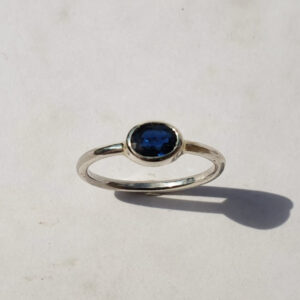 Oval Sapphire Stacker